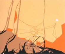 """Autumnal Eye 14.75"""" x 17.5"""" acrylic on panel2003"""