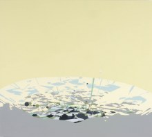 "Planar Surface		48"" x 52""		acrylic on panel	2002"