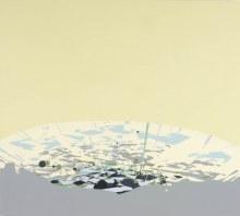 "Planar Surface48"" x 52""acrylic on panel2002"
