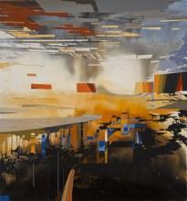 "Watercourse Bypass 45"" x 42"" acrylic on panel2012"