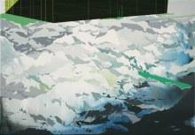 "Alpine Encroachment 14"" x 20"" acrylic on panel2012"
