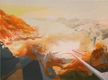 "Habitat Survey 28"" x 38""acrylic on panel2012"