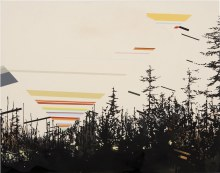 "Signal Horizon 		22"" x 28""		acrylic on panel	2011"