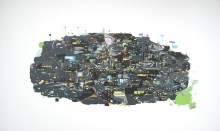 "Host Community 36"" x 60"" acrylic on canvas2005"