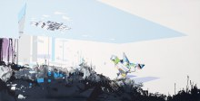 "Mixed USe 1		33"" x 65""		acrylic on panel	2010"