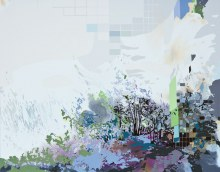 "Chemical Bloom22"" x 28"" acrylic on panel2011"
