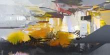 """Luminary Phase 39.5"""" x 78"""" acrylic on panel 2014"""